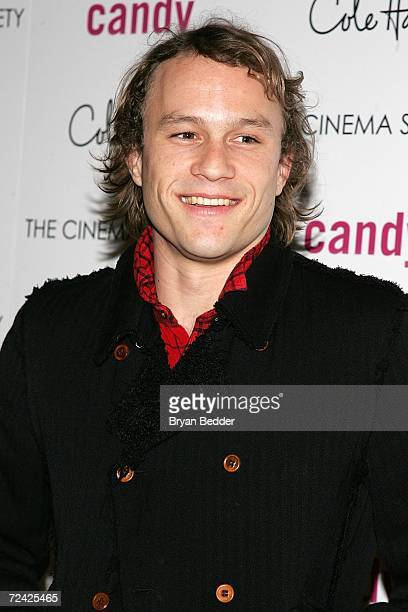 Actor Heath Ledger arrives at the ThinkFilms screening of Candy presented by the Cinema Society and Cole Hann November 6, 2006 in New York City.