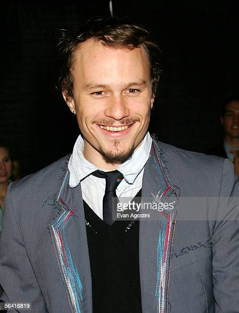 "Actor Heath Ledger attends a special screening of the film ""Casanova"" at the Loews Lincoln Square Theater December 11, 2005 in New York City."