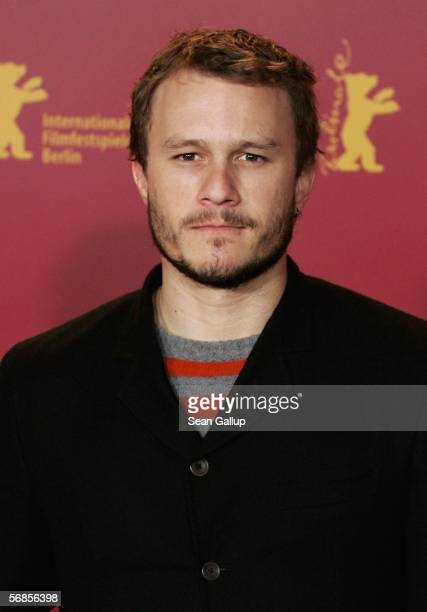 "Actor Heath Ledger attends the photocall for ""Candy"" as part of the 56th Berlin International Film Festival on February 15, 2006 in Berlin, Germany."