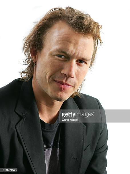 "Actor Heath Ledger from the film ""Candy"" poses for portraits in the Chanel Celebrity Suite at the Four Season hotel during the Toronto International..."