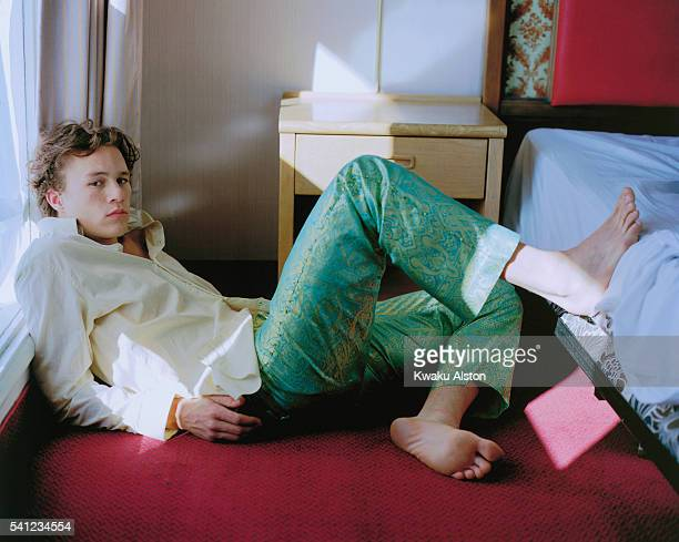 Actor Heath Ledger is photographed for Movieline Magazine in 2001