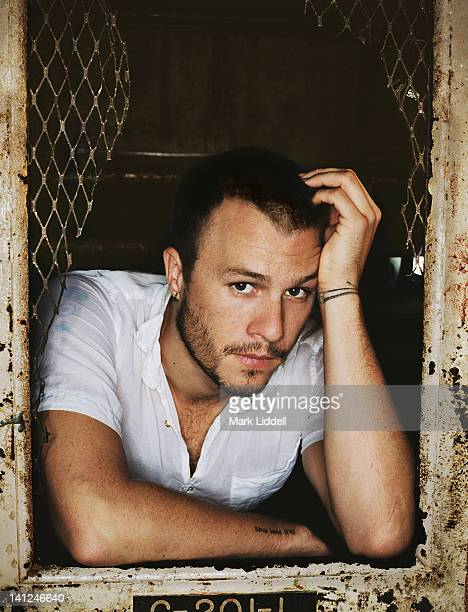 Actor Heath Ledger is photographed for The Advocate on November 1 2005 in Los Angeles California PUBLISHED IMAGE