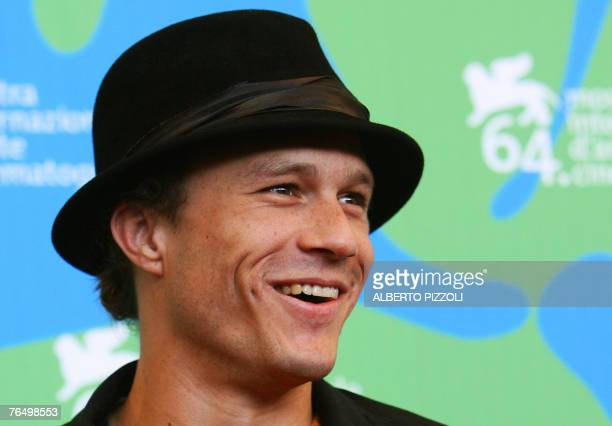 "Actor Heath Ledger poses during a photocall of ""I'm not there"" during the 64th Venice International Film Festival at Venice Lido, 04 September 2007...."