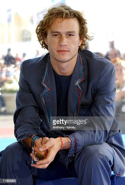 "Actor Heath Ledger poses during the photocall for ""A Knight's Tale"" September 1, 2001 at the Deauville Festival of American Cinema in Deauville,..."