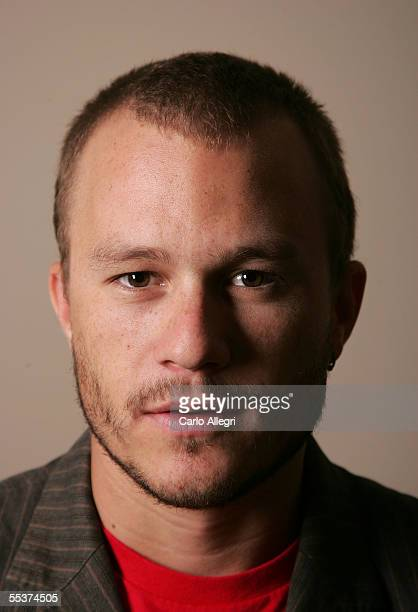 "Actor Heath Ledger poses for a portrait while promoting his film ""Brokeback Mountain"" at the Toronto International Film Festival September 10, 2005..."