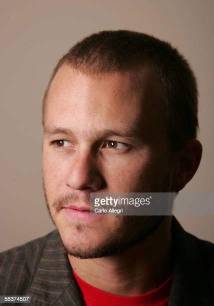 Actor Heath Ledger poses for a portrait while promoting his film Brokeback Mountain at the Toronto International Film Festival September 10 2005 in...