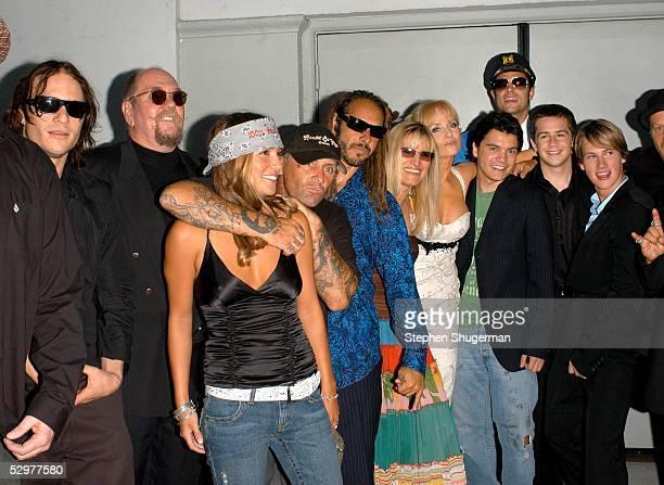 Actor Heath Ledger, Skip Engblom, female guest, Original Z-Boys pro-skater Jay Adams, Tony Alva, Director Catherine Hardwicke, actress Rebecca De...