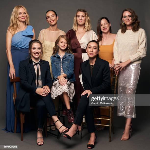 Actor Heather Graham producer Lindsay Tapscott actors Jodi Balfour Abigail Pniowsky and Sophie Nélisse director Aisling ChinYee writer Alanna Francis...