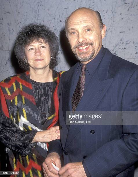 Actor Hector Elizondo and wife Carolee Campbell attend the 'Assassins' Opening Night Performance on March 31 1995 at the Los Angeles Theatre Center...