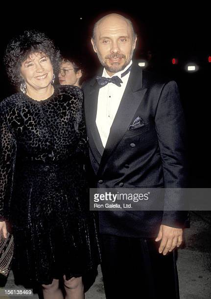 Actor Hector Elizondo and wife Carolee Campbell attend the First Annual Movie Awards on January 30 1991 at Universal Amphitheatre in Universal City...