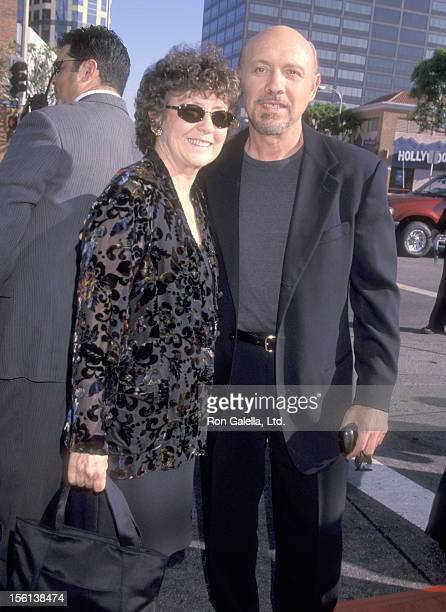 Actor Hector Elizondo and wife Carolee Campbell attend the 'Runaway Bride' Westwood Premiere on July 25 1999 at Mann National Theatre in Westwood...
