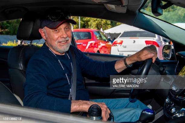 Actor Hector Elizondo arrives at the Luxe Hotel to pick up his gift bag at the drive-through gifting event organized by DPA Group president Nathalie...