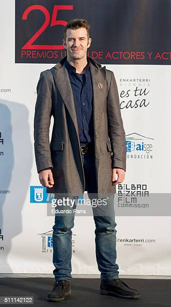 Actor Hector Melgares attends the 'Union de Actorres' awards 25th anniversary at the Cibeles Palace on February 17 2016 in Madrid Spain