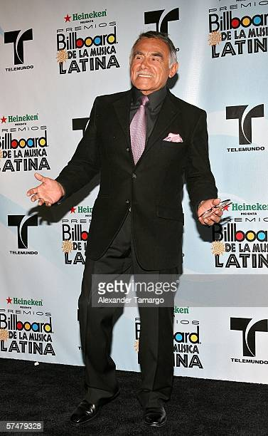 Actor Hector Suarez poses in the press room at the 2006 Billboard Latin Music Awards at the Seminole Hard Rock Hotel Casino on April 27 2006 in...