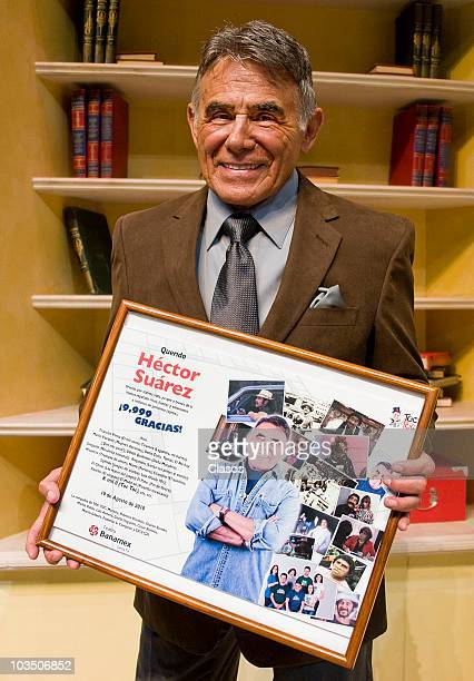 Actor Hector Suarez receives a homage for his 52 years of career on August 19 2010 in Mexico City Mexico