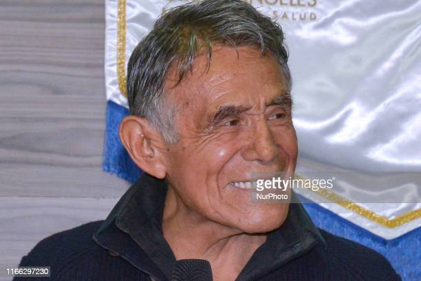 Actor Hector Suarez speaks during a press conference to announce he was operated because of Cancer and that he is in good health at Angeles Hospital...