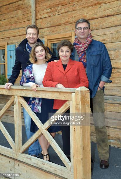 Actor Heiko Ruprecht Ronja Forcher Monika Baumgartner and Hans Sigl during the 10th anniversary celebration of 'Der Bergdoktor' on November 21 2017...