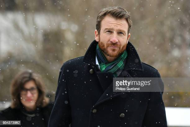 Actor Heiko Ruprecht the memorial service for Siegfried Rauch at St Ulrich Church on March 19 2018 in Habach near Murnau Germany German actor...