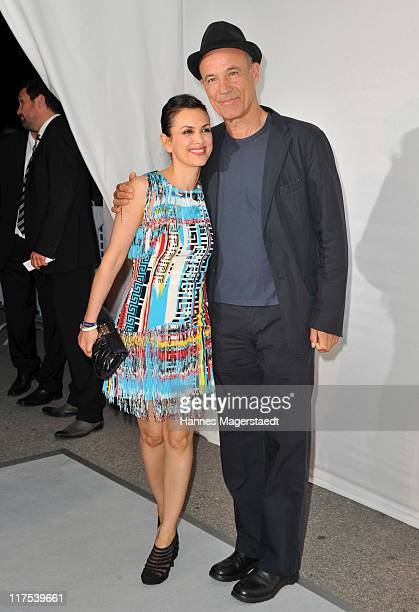 Actor Heiner Lauterbach and his wife Viktoria attend the Movie Meets Media party at P1 on June 27 2011 in Munich Germany