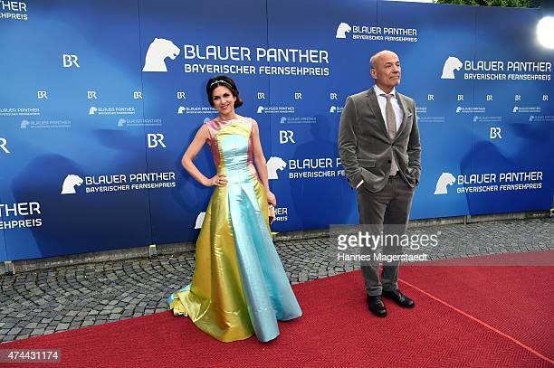 Actor Heiner Lauterbach and Viktoria Lauterbach arrive for the Bayerischer Fernsehpreis 2015 at Prinzregententheater on May 22 2015 in Munich Germany