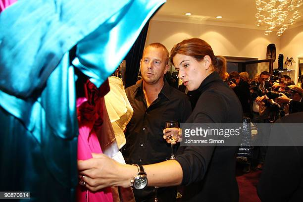 Actor Heino Ferch and his wife MarieJeanette Ferch attend the Guido Maria Kretschmer Shop Opening on September 16 2009 in Munich Germany
