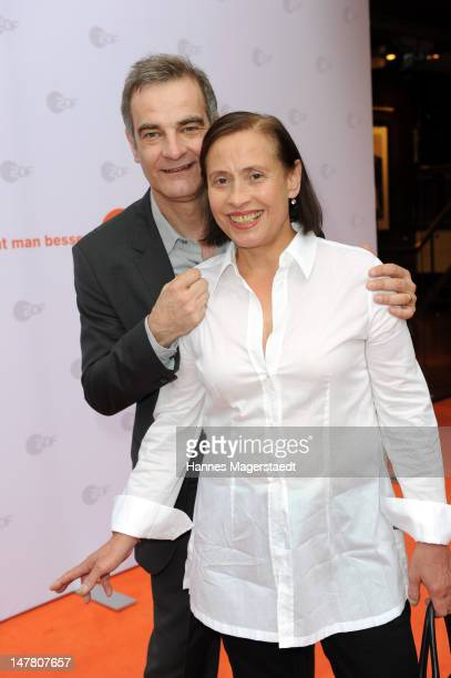Actor Heinrich Schafmeister and his wife Jutta Schafmeister attend the ZDF reception during the Munich Film Festival 2012 at the H'ugo's on July 3...
