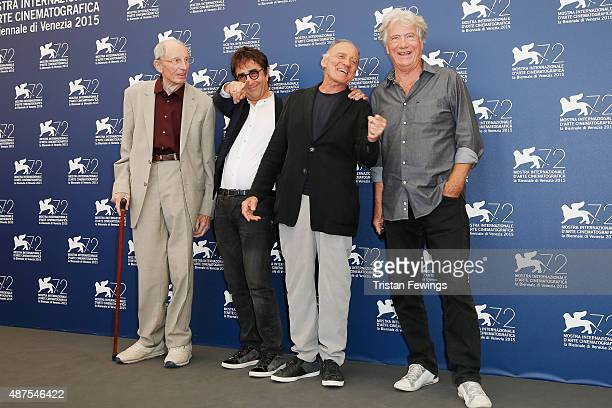 Actor Heinz Lieven director Atom Egoyan actors Bruno Ganz and Jurgen Prochnow attend a photocall for 'Remember' during the 72nd Venice Film Festival...