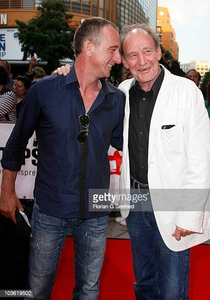 Actor Heio von Stetten and actor Michael Mendel attend the First Steps Award 2010 at the Theater am Potsdamer Platz on August 24 2010 in Berlin...