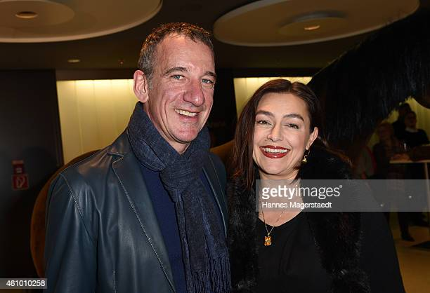 Actor Heio von Stetten and his wife Elisabeth Romano attends 'Apassionata Die goldene Spur' Munich Premiere at Olympiahalle on January 3 2015 in...