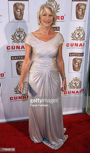 Actor Helen Mirren arrives at the 16th Annual British Academy of Film and Television/LA Cunard Britannia Awards on November 1 2007 at the Hyatt...