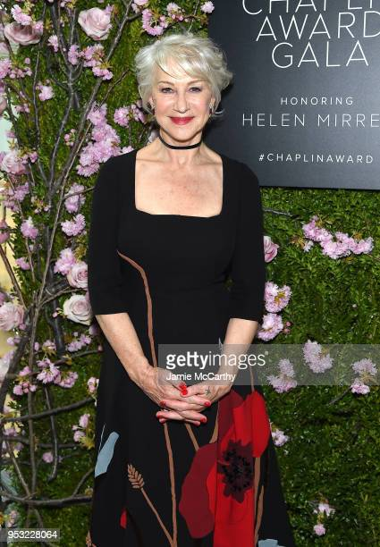 Actor Helen Mirren attends the 45th Chaplin Award Gala at Alice Tully Hall Lincoln Center on April 30 2018 in New York City