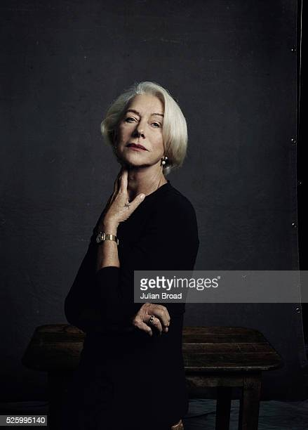 Actor Helen Mirren is photographed for Harpers Bazaar on October 8 2015 in London England