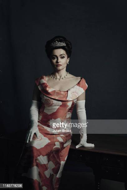 Actor Helena Bonham Carter who plays Princess Margaret in the Netflix series The Crown, is photographed for EW magazine on February 7, 2019 in...