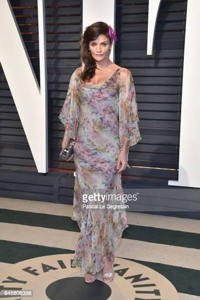 Actor Helena Christensen attends the 2017 Vanity Fair Oscar Party hosted by Graydon Carter at Wallis Annenberg Center for the Performing Arts on...
