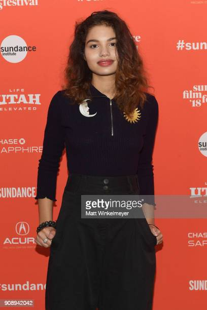 Actor Helena Howard attends the Madeline's Madeline Premiere during the 2018 Sundance Film Festival at Park City Library on January 22 2018 in Park...