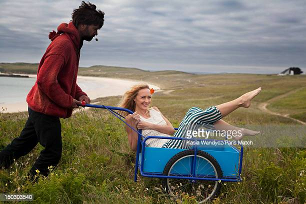 Actor Helene de Fougerolles is photographed for Paris Match on May 22 2012 on the island of Houat Brittany in France