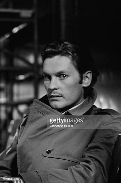Actor Helmut Berger During The Shooting Of The Movie 'Un Beau Monstre' Directed By Sergio Gobbi In Paris France In 1970