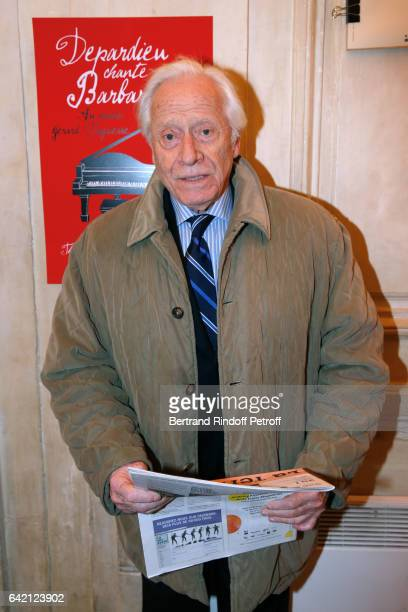 Actor Henri Garcin attends Gerard Depardieu sings Barbara accompanied on the piano of Barbara by Gerard Daguere who was his Pianist for more than 15...