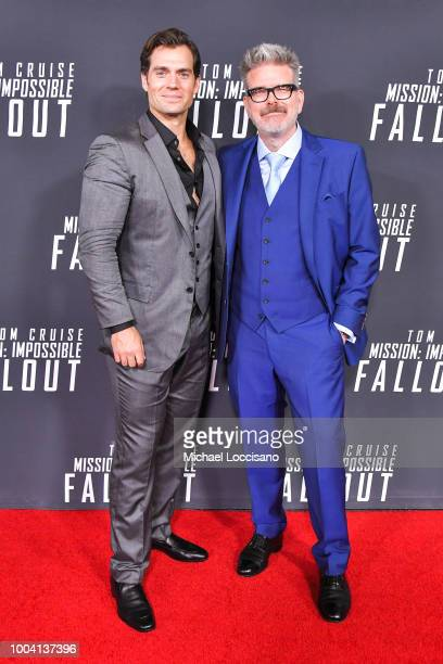 Actor Henry Cavill and director Christopher McQuarrie attend the 'Mission Impossible Fallout' US Premiere at Lockheed Martin IMAX Theater at the...