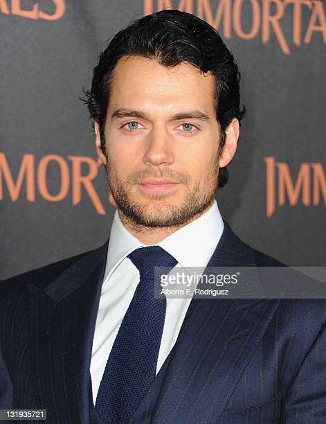 "Actor Henry Cavill arrives at Relativity Media's ""Immortals"" premiere presented in RealD 3 at Nokia Theatre L.A. Live at Nokia Theatre L.A. Live on..."