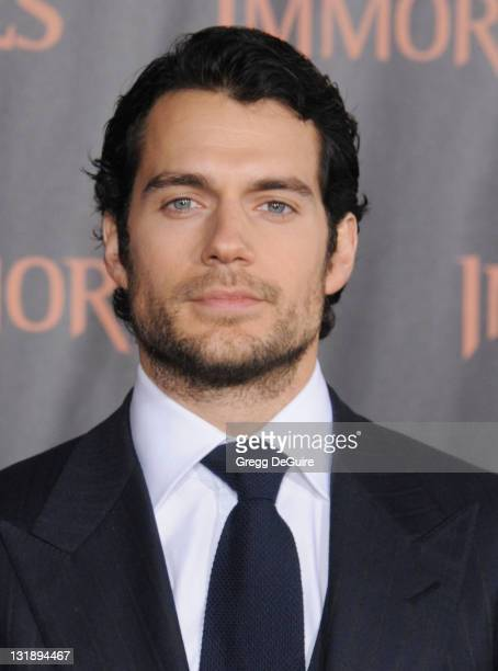 Actor Henry Cavill arrives at the 'Immortals' Los Angeles Premiere at Nokia Theatre LA Live on November 7 2011 in Los Angeles California