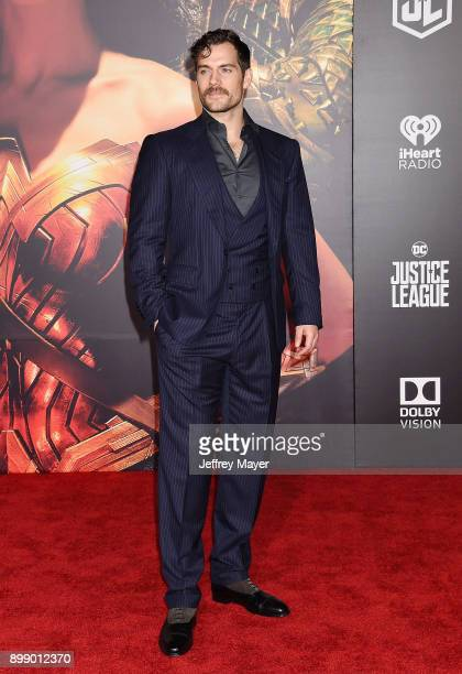 Actor Henry Cavill arrives at the premiere of Warner Bros Pictures' 'Justice League' at the Dolby Theatre on November 13 2017 in Hollywood California
