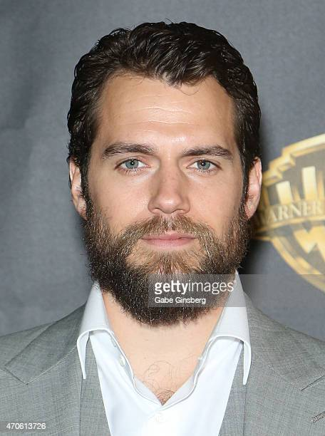 Actor Henry Cavill arrives at Warner Bros Pictures presents The Big Picture during CinemaCon 2015 at The Colosseum at Caesars Palace on April 21 2015...