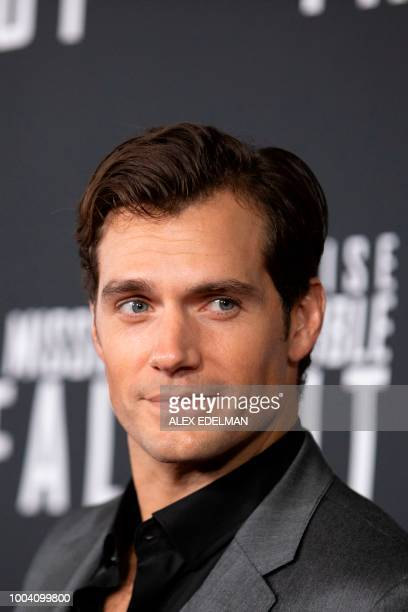 US actor Henry Cavill arrives for a screening of 'Mission Impossible Fallout' at the Smithsonian National Air and Space Museum on July 22 in...