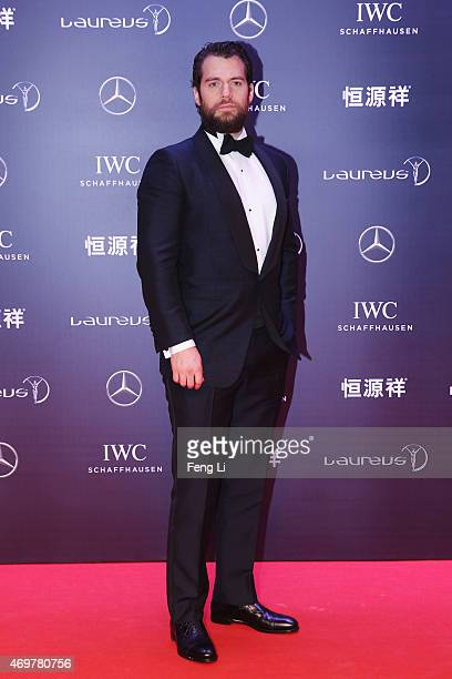 Actor Henry Cavill attends the 2015 Laureus World Sports Awards at Shanghai Grand Theatre on April 15 2015 in Shanghai China