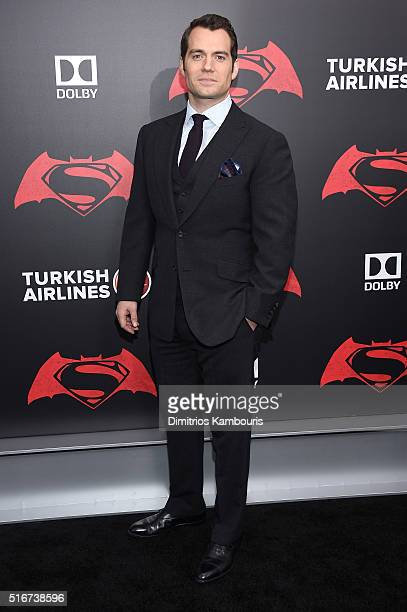 Actor Henry Cavill attends the 'Batman V Superman Dawn Of Justice' New York Premiere at Radio City Music Hall on March 20 2016 in New York City
