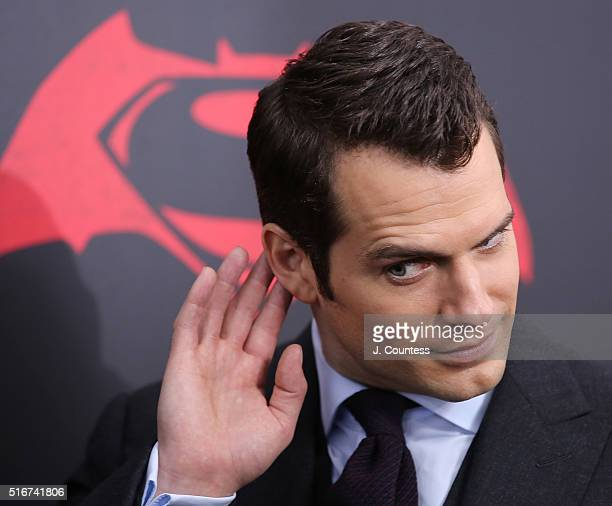 "Actor Henry Cavill attends the ""Batman V Superman: Dawn Of Justice"" New York Premiere at Radio City Music Hall on March 20, 2016 in New York City."