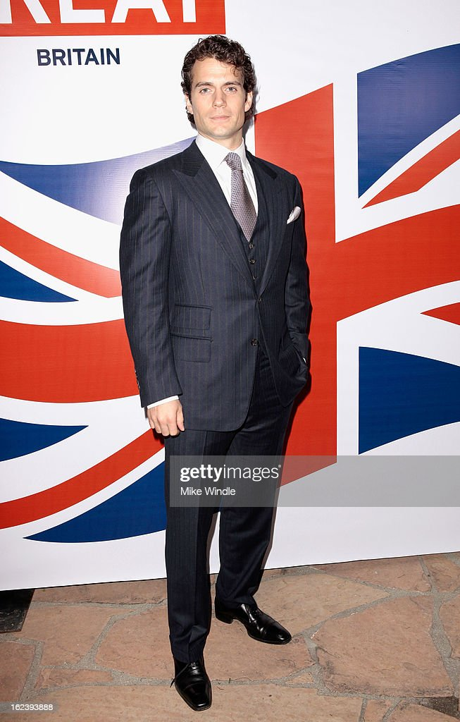 Actor Henry Cavill attends the GREAT British Film Reception at British Consul General's Residence on February 22, 2013 in Los Angeles, California.