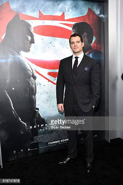 Actor Henry Cavill attends the launch of Bai Superteas at the Batman v Superman premiere on March 20, 2016 in New York City.