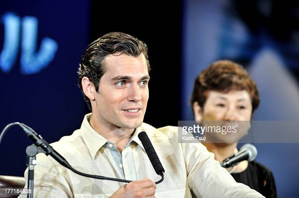 Actor Henry Cavill attends the 'Man of Steel' press conference at the Grand Hyatt on August 22 2013 in Tokyo Japan